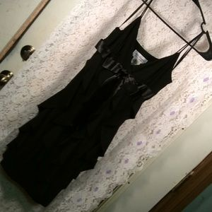 Black layered formal dress